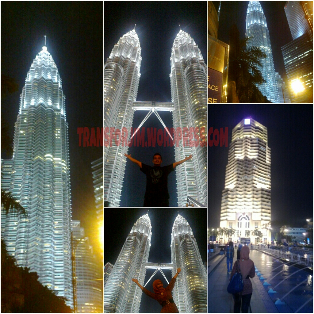 Art Of Twin Towers in The Nigth