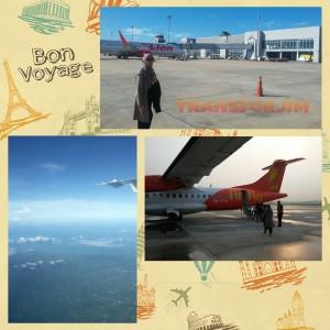 Pic. 1 Bandara Krabi, Pic. 2 Take off from PIA Pic. 3 Krabi Land