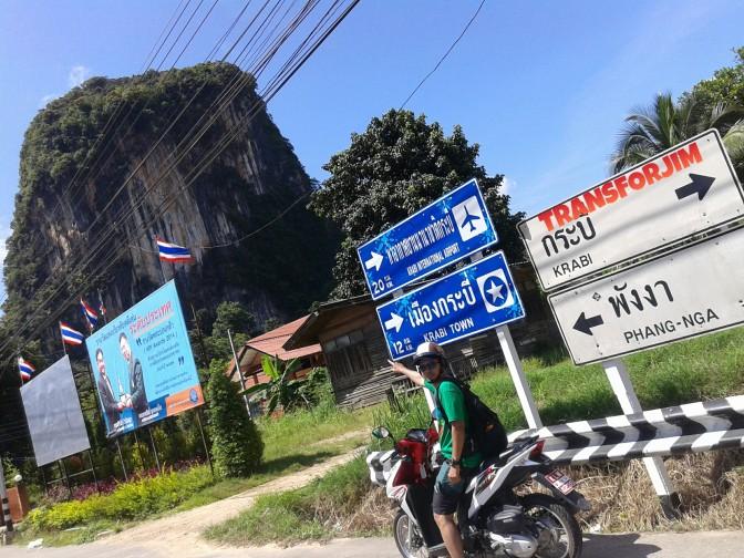 Motoran dan Tersesat Di Krabi Town – Thailand