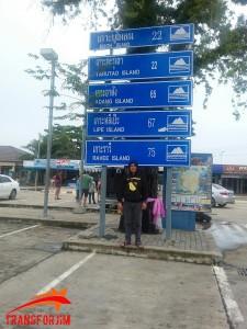 Mejeng di Signboard Pakbara Pier