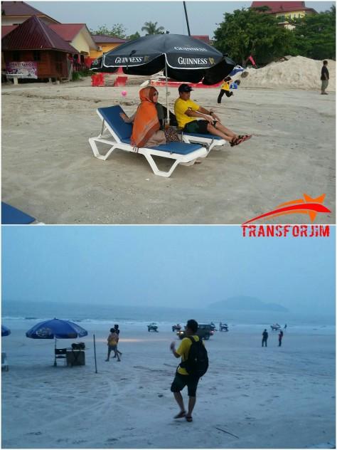 Suasana Pantai Cenang , berasap! :'(
